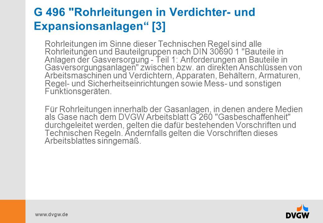 G 496 Rohrleitungen in Verdichter- und Expansionsanlagen [3]